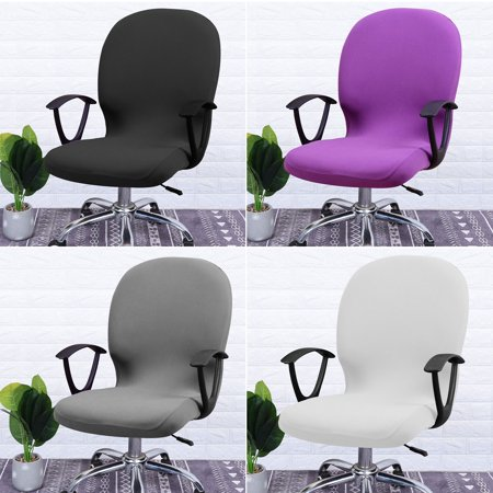Office Chair Covers Removable Stretch Cushion Slipcovers Stretchy for Computer Chair/High Back Chair Chair/Boss Chair/Rotating Chair/Executive Chair Cover Cushion Protector (Office Chair Back Slipcovers)