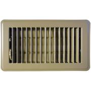 6 X 10 Brown Stamped Steel Floor Register