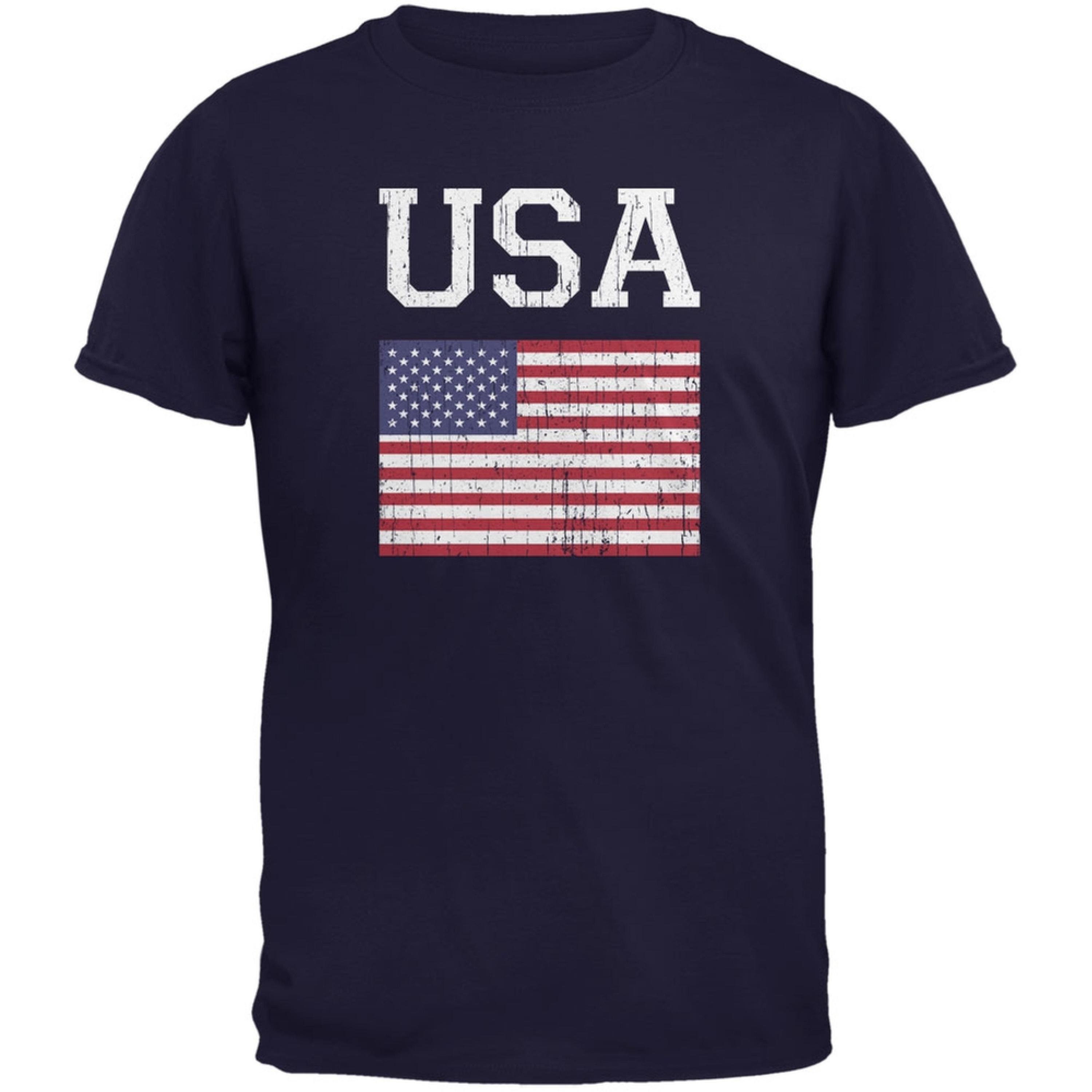 World Cup Distressed Flag USA Navy Youth T-Shirt