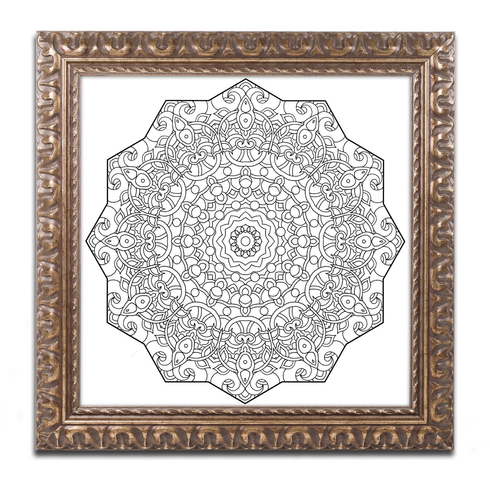 Trademark Global LLC Trademark Fine Art Mixed Coloring Book 28 Canvas Art by Kathy G. Ahrens, Gold Ornate Frame