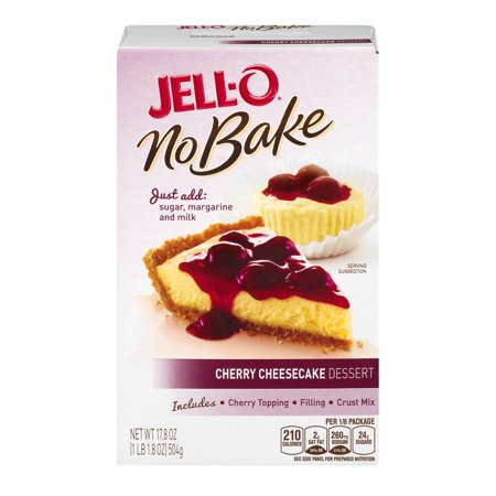 Jell O No Bake Cherry Cheesecake Dessert Kit  17 8 Oz