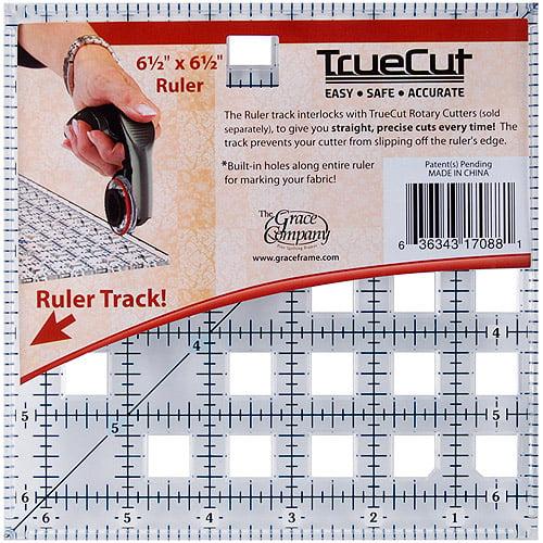 "The Grace Company Truecut 6-1/2"" X 6-1/2"" Ruler"