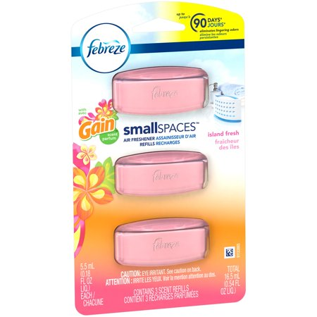 Febreze Small Spaces Air Freshener Refills with Gain Scent, Island ...