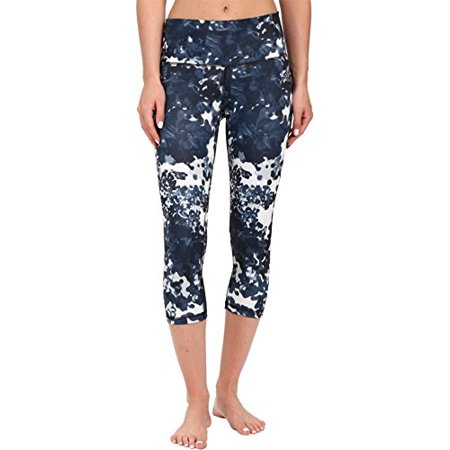 adidas Women's Performer High-Rise 3/4 Tights - Floral Explosion Print Black Print/Matte Silver Pant