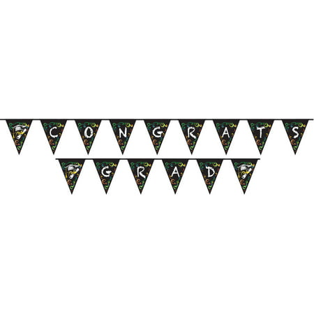 Chalkboard Graduation Pennant Banner, 14 ft, 1ct (Graduations Decorations)