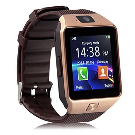 441a8cc75a5 Dragon Touch DZ09 MTK6261D Bluetooth Smart Wrist Watch GSM Phone Mate For  Android iOS iPhone - Walmart.com