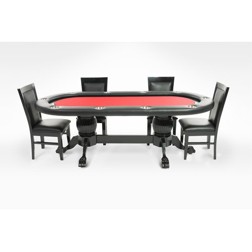 BBO Poker Elite 6 Piece Poker Dining Table Set with Dining Chairs by