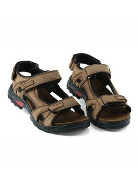 9abef6827c93 Product Image Comfortable Mens Casual Shoes Flat Hook-Loop Leather Sandals  For Sport Home Work Outdoor