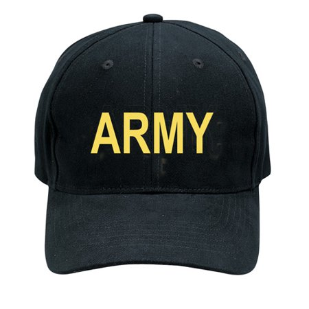 Ranger Low Profile Cap - Black Army  Low Profile Baseball Cap