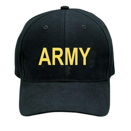 Black Army Low Profile Baseball Cap
