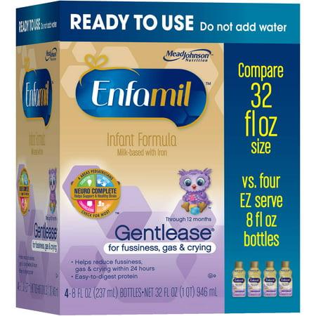 Enfamil Gentlease Infant Formula, 4 Pack - Walmart.com