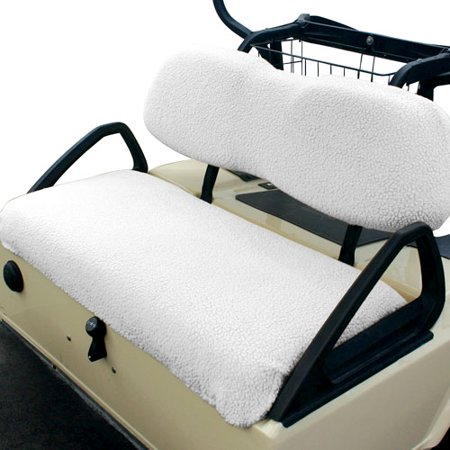 Pleasing Classic Accessories Fairway Golf Cart Seat Cover White Fleece Caraccident5 Cool Chair Designs And Ideas Caraccident5Info