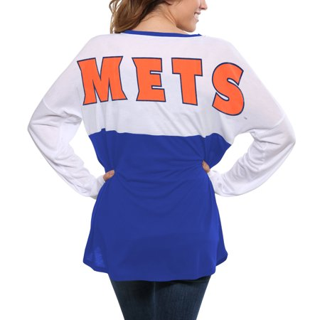 New York Mets Concepts Sport Women's Comeback Long Sleeve T-Shirt - White/Royal](Halloween Concert New York)