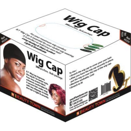 Wig Cap 200 Pieces Bulk Box (Black) By Beauty Town,USA](Black Wig Cap)