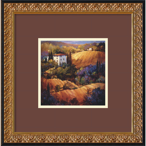 Amanti Art 'Evening Glow Tuscany' by Nancy O'Toole Framed Painting Print