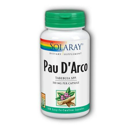 Solaray Pau D'Arco Inner Bark 510 mg - 100 Capsules