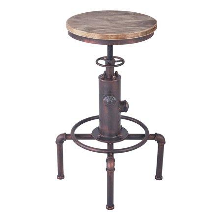 Home Chic Bradman Industrial Adjustable Bar Stool
