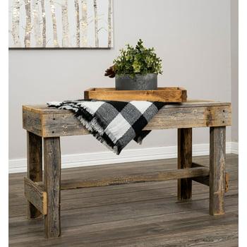 Del Hutson Designs Reclaimed Barnwood Natural Bench