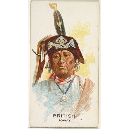 British Ioway from the American Indian Chiefs series (N2) for Allen & Ginter Cigarettes Brands Poster Print (18 x