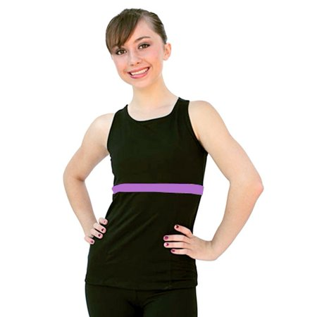 Adult Racer Girl (ChloeNoel Purple Racer Back Fitted Skating Top Girls S-L Adult XS-L )
