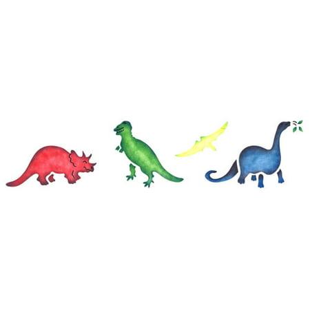 5 inch Dinosaurs Wall Stencil SKU #332 by Designer Stencils