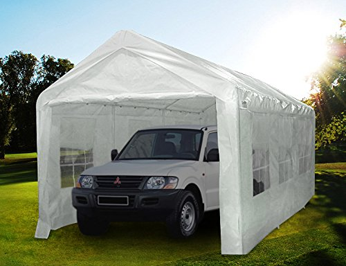 Quictent 20' x 10' Heavy Duty Carport Gazebo Canopy Party Tent Garage Car Shelter White by