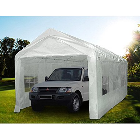Quictent large canopy carport 10 39 x20 39 window style sides for Carports with sides