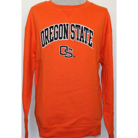 Drinking Team Adult Sweatshirt (Oregon State Beavers NCAA Embroidered Crew Sweatshirt - Orange)