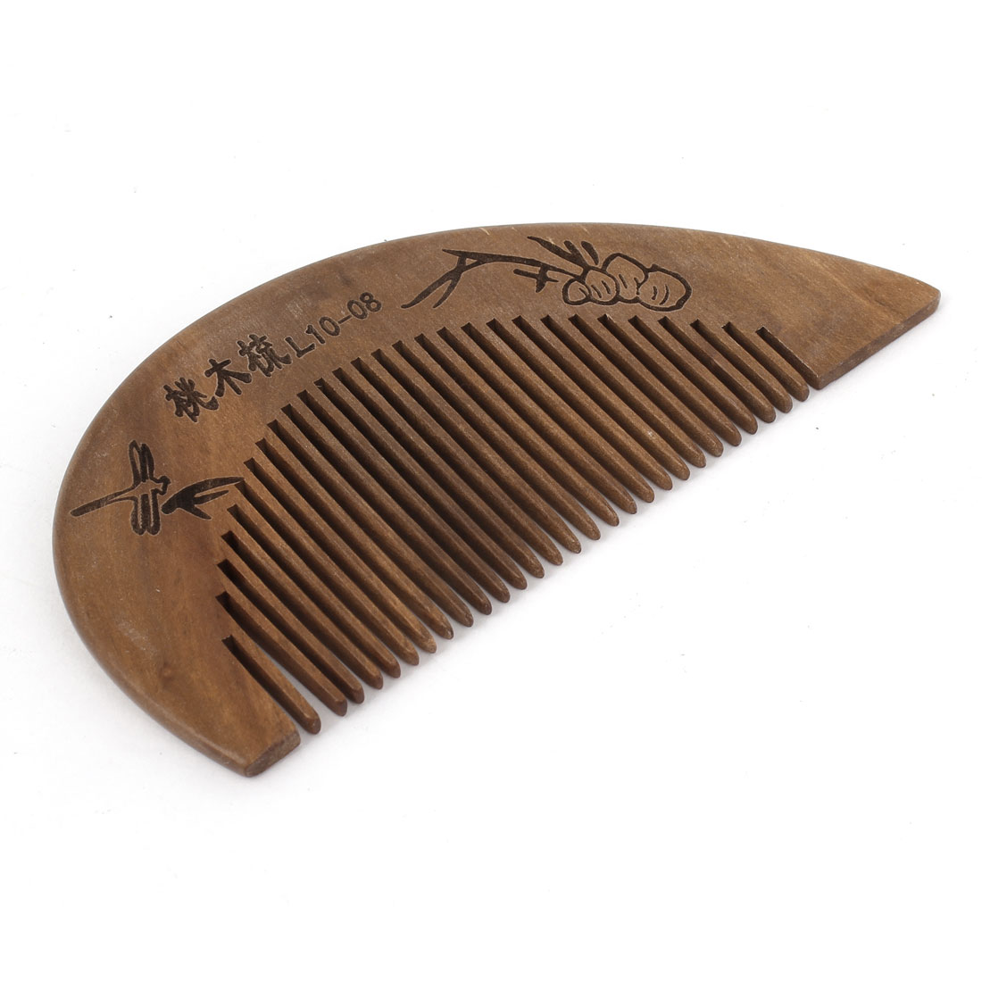 "4"" Length Handwork Carved Wood Hair Care Comb for Unisex - image 2 de 2"