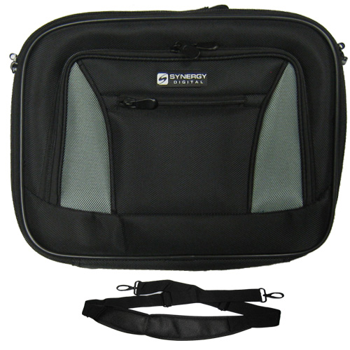 HP EliteBook 8560w Mobile Workstation Laptop Case Carry Handle & Adjustable Shoulder Strap - Black/Gray - Adjustable & Removable Interior Dividers