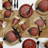 Basketball Party Supplies Kit for 8 Guests