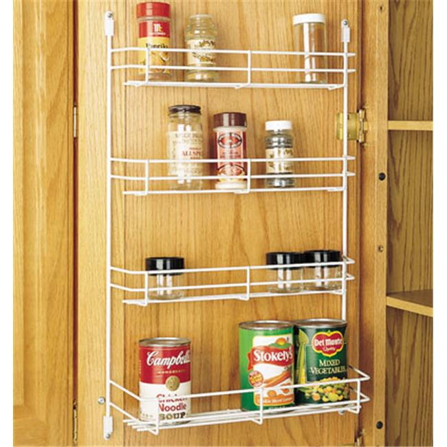 HD RS565.14.52 Rev-A-Shelf Wire Door Mount Spice Rack White, 13.63 in. by