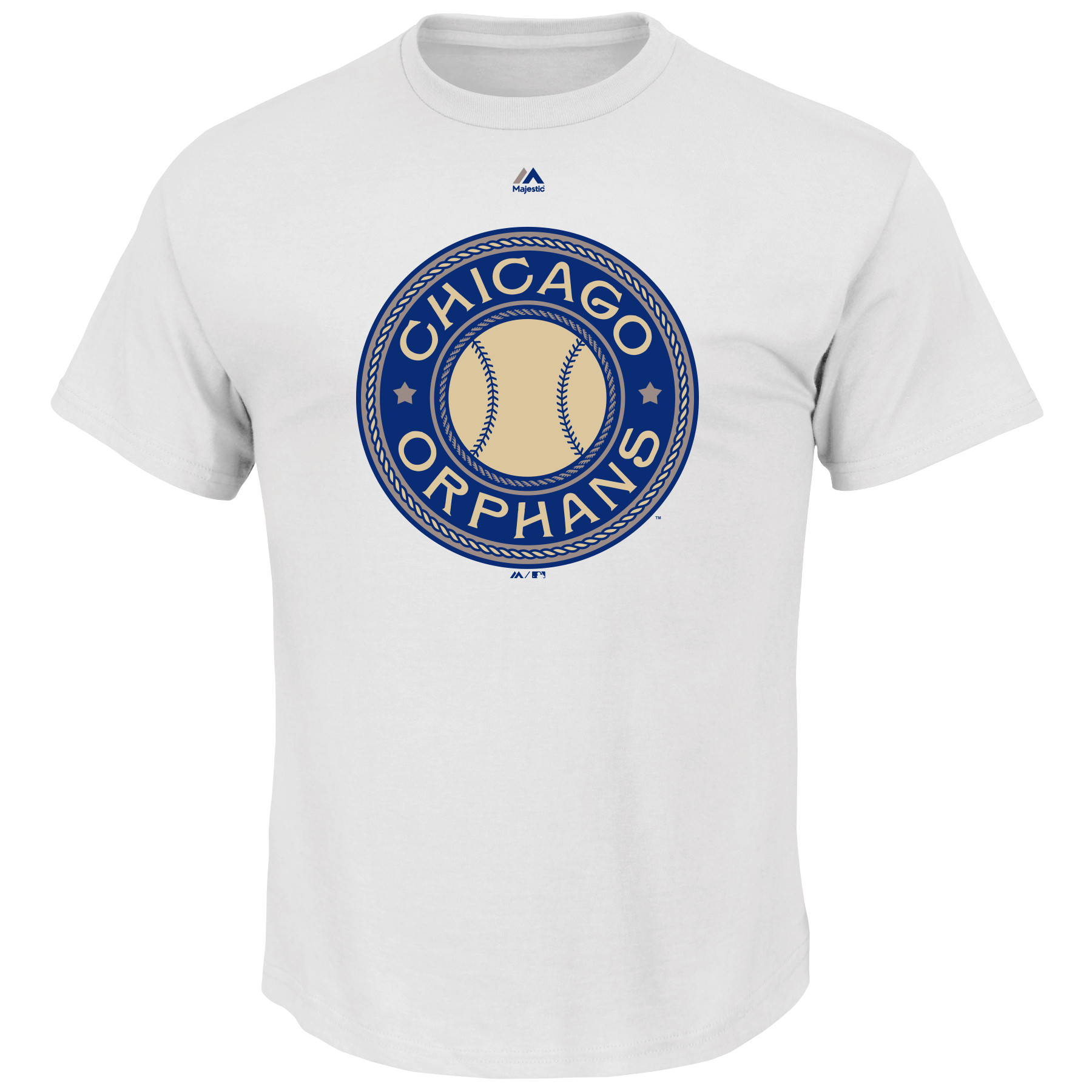Chicago Cubs Majestic Chicago Orphans Historical Team T-Shirt - White