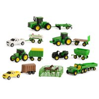 John Deere Toy Tractor Value Set, Tractor And Farm Animal Toys, 1:64 Scale, 20 Pieces