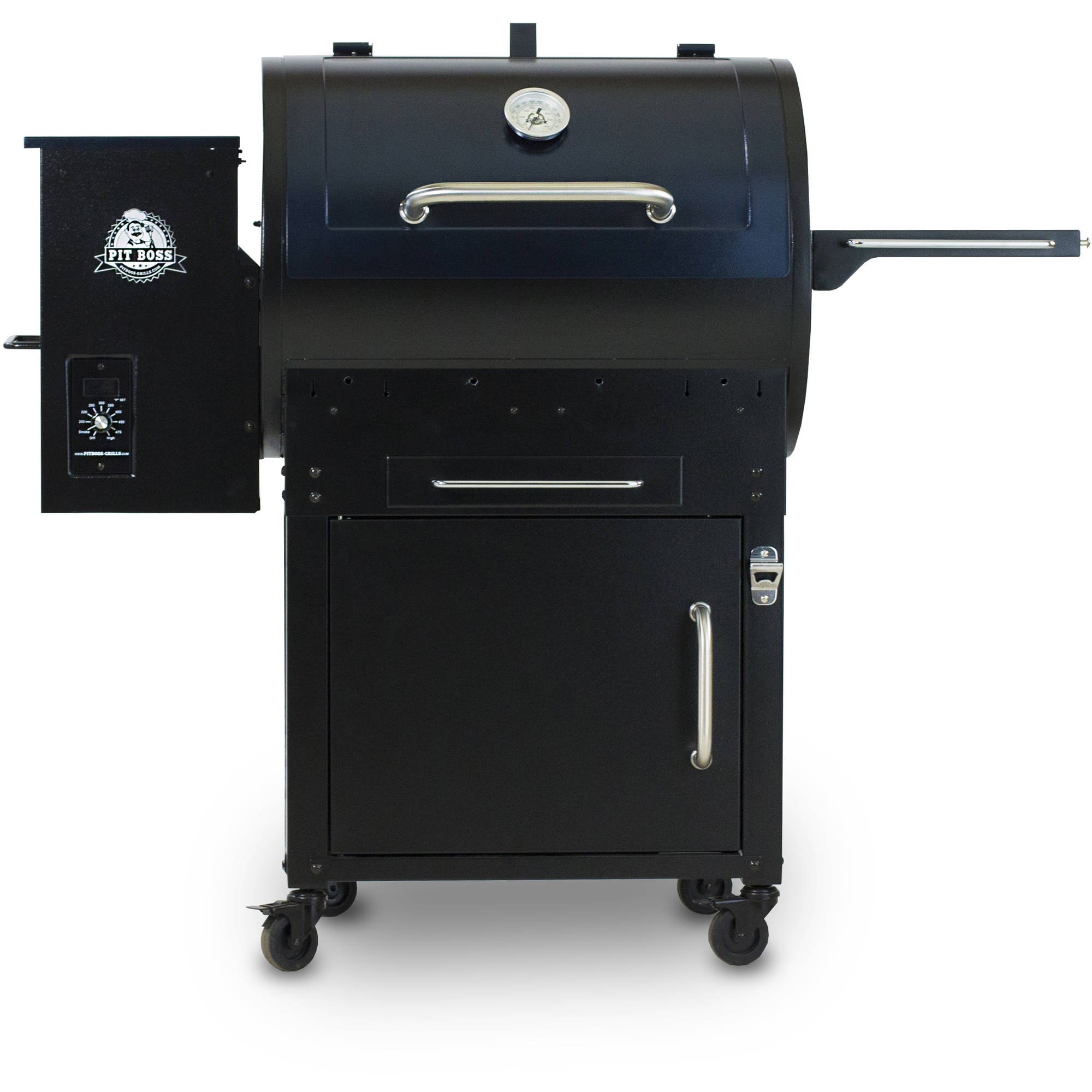 Wood Fired Pellet Grill With Flame Broiler & Cart - Pit Boss
