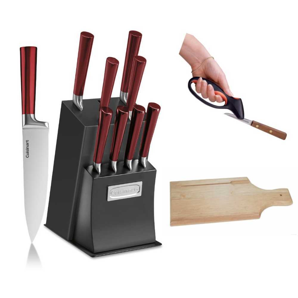 Cuisinart 11-Piece Vetrano Collection Cutlery Knife Block Set With Deluxe Bundle