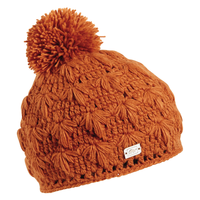 Turtle Fur Lifestyle - Rhoda, Hand Crocheted Pom Beanie Fully-Lined w/micro fleece