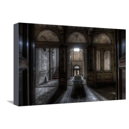 Haunted Interior Bathroom Stretched Canvas Print Wall Art By Nathan Wright