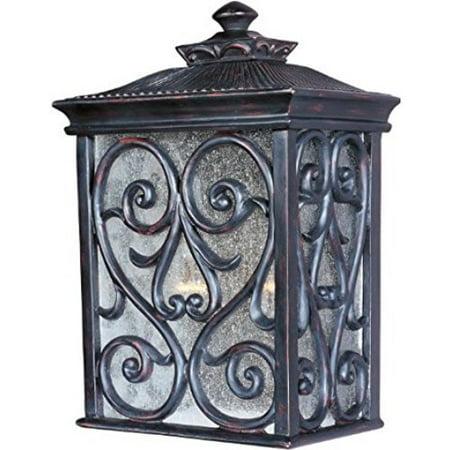 Maxim Lighting 40127CDOB Two Light Seedy Glass Wall Lantern, Oriental Bronze [Oriental Bronze] - Oriental Lanterns