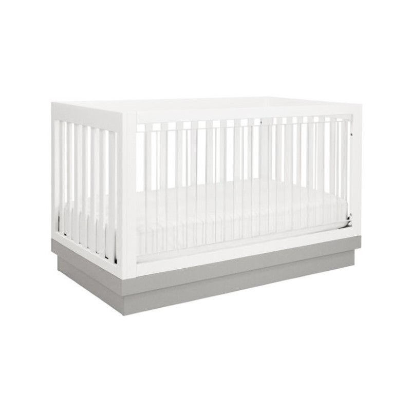 Babyletto Acrylic Harlow 3-in-1 Convertible Crib with Toddler Rail