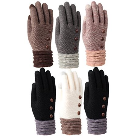 Women's Fleece Lined Acrylic Magic Glove with Touchscreen Technology 6 Pair - Gordini Fleece Glove