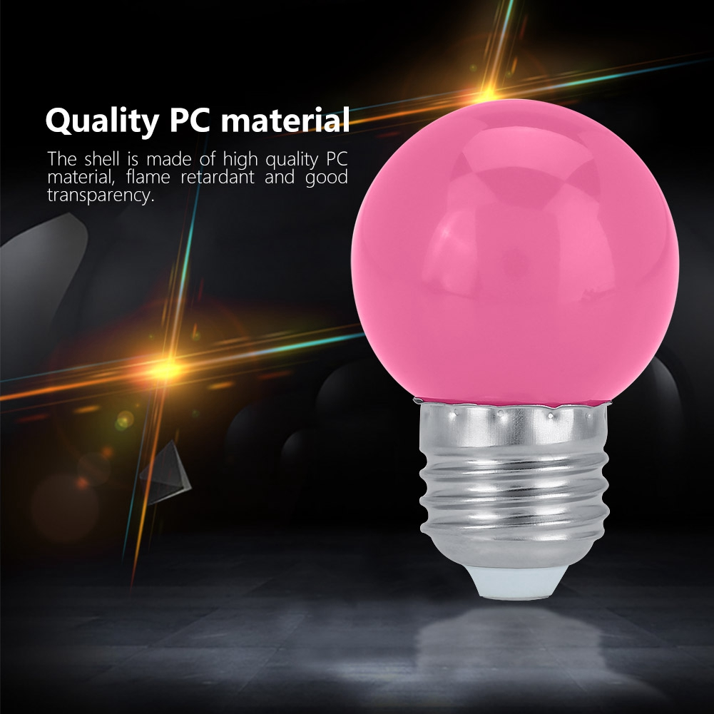 Aramox 3W E27 Round Shaped LED Light Bulb Home Bar Party Festival Decorative Lamp Lighting