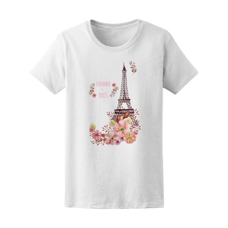 Eiffel Tower Pajamas (Eiffel Tower With Flowers Tee Women's -Image by)