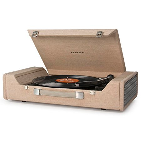 Crosley Cr6232a Br Nomad Portable Usb Turntable With Software For Ripping   Editing Audio  Brown