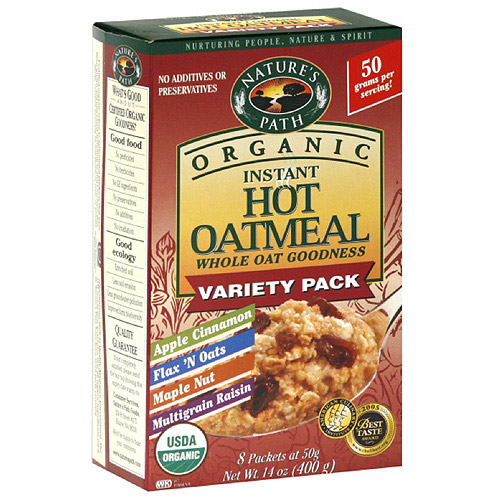 Nature's Path Organic Instant Hot Oatmeal Variety Pack, 14 oz (Pack of 6)