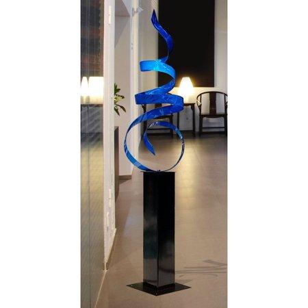 Statements2000 Large Abstract Metal Sculpture Modern Blue Indoor Outdoor Yard Decor Art by Jon Allen ()