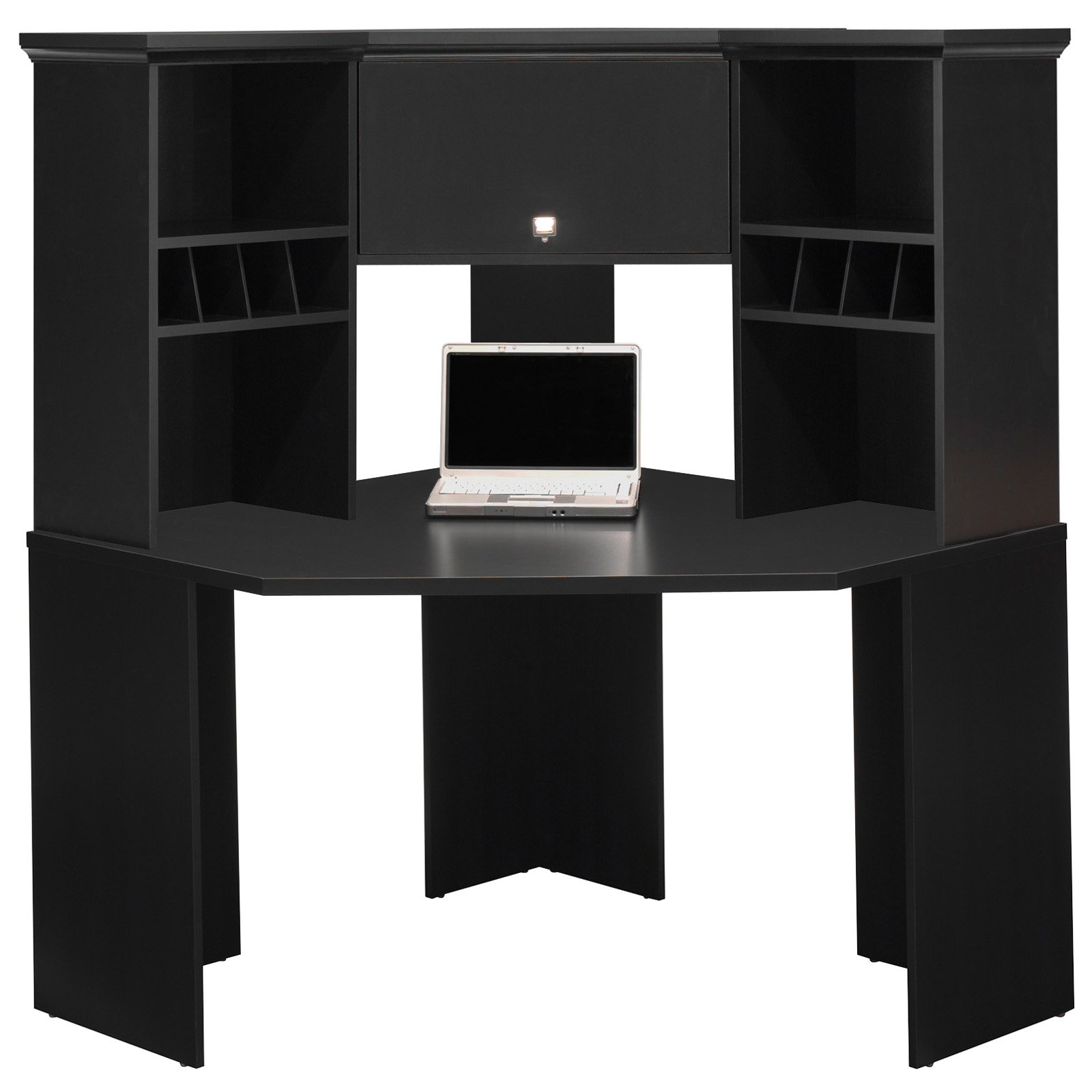 vintage l small black ceiling and shaped hutch renew with desk student