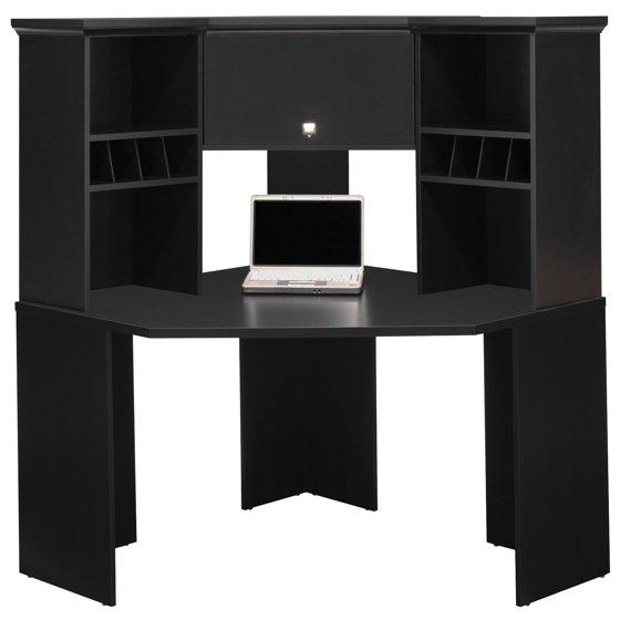 bush stockport corner desk with hutch. Black Bedroom Furniture Sets. Home Design Ideas