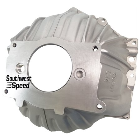 NEW SOUTHWEST SPEED CHEVY 403 ALUMINUM BELLHOUSING, STAMPED WITH #GM 3858403, DIRECT REPLACEMENT FOR SBC & BBC FOR 10 1/2