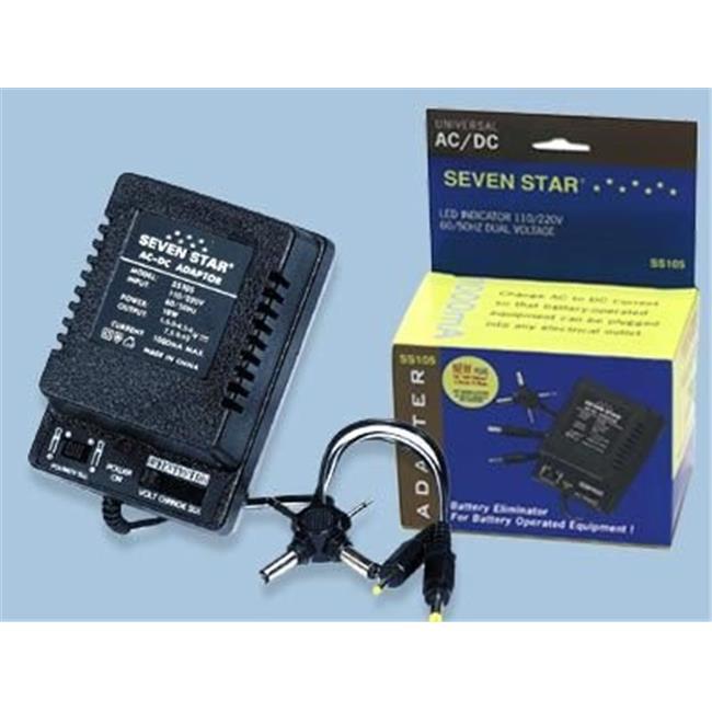 Sevenstar SEVENSTAR-ADAPTER-SS105 1000mAh 1.5-12V AC input DC Output Adapter - image 1 of 1